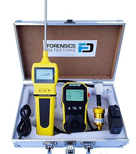 Analizador de combustión residencial por Forensics | Analizador básico de gas de combustión | Sensor CO y O2 | COAF & EA | Trampa de agua, partículas y filtros NOx | Recarga USB | Pantalla grande y