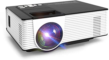 $87 » Newest Upgrade 2200 Lumens LED Portable Home Theater Projector with 1080P Support, Compatible with Fire TV Stick, PS4, Smart Phone, PC & More for Movies, TV and Gaming