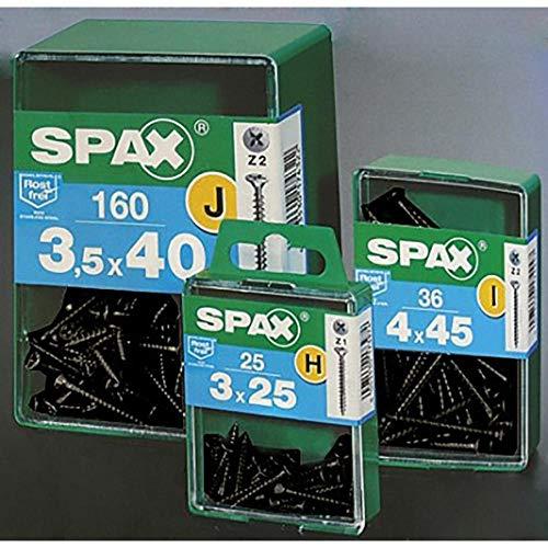 Spax - Tirafondo negro avellanado 3.5x16 c200
