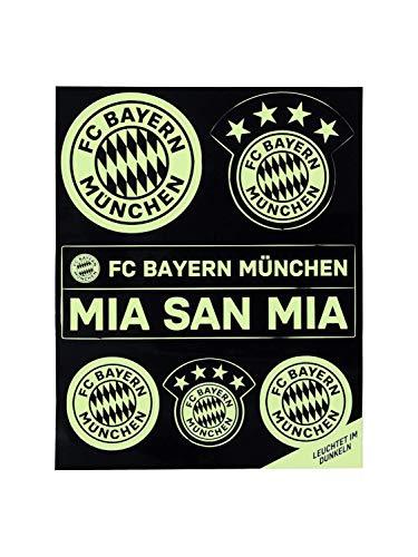 FC Bayern München Leucht Aufkleber-Set Logo mia san mia
