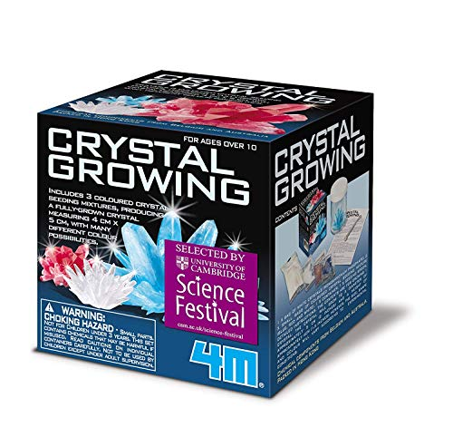 Crystal Growing Science Kit - Easy DIY STEM Toys Lab Experiment Specimens, A Great Educational Gift for Kids & Teens, Boys & Girls