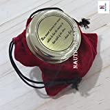 NauticalMart Andre Gide Man Cannot Discover New Oceans Engraved Compass/Inspirational Gift/Directional Magnetic Compass for Navigation/Pocket Compass for Camping, Hiking, Touring
