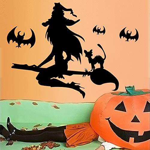 Wandaufkleber Halloween-Hexenbesen Raumdekoration der kreativen Kinder kreative