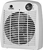 Alpatec RSB 20 - Calefactor eléctrico, aire caliente y frío, 1000/2000 W, 21,4 x 24,6 x 12,5 cm, color blanco