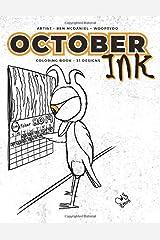 October Ink: Coloring Book Paperback