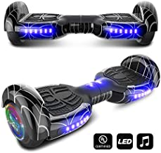 CHO Spider Wheels Series Hoverboard UL2272 Certified Hover Board Electric Scooter with Built in Speaker Smart Self Balancing Wheels (Spider Night)