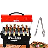 Wellberg Electric & Charcoal BBQ Grill & Tandoor Portable Barbecue, Stainless Steel Grill, Both for Outdoor & Indoor Electric Grill
