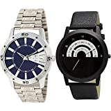 TIMENTER Day and Date Chain Watch, Speedometer Analog Blue and Black Color Dial Boys Watch - BL46.102-B48 (Pack of 2)