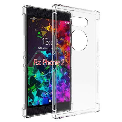 NEWZEROL Ersatz für Razer Phone 2 hülle [Kratzfest] [Stoßdämpfung] [Slim-Fit] Gel Case Schutzhülle TPU weiche klare Handyhülle - Transparent [Lebenslange Ersatzgarantie]