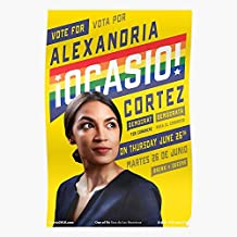 kineticards New York Ice Aoc Queens Democratic Cortez Abolish Campaign Poster Party..