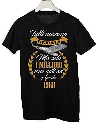 Tshirt Compleanno Aprile 1968 Tutti Nascono Uguali ma Solo i Migliori Sono Nati a Aprile 1968 - Eventi - Simpatico Regalo - Tutte Le Taglie by tshirteria