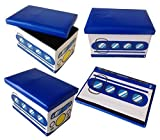 Sgabello Blue Bus pieghevole originale GMMH Toy Box Toy Chest Toy Box Storage Box sgabello pieghevole