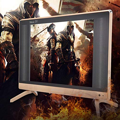 Televisor LCD Televisor de 22 Pulgadas de Alta definición con Smart TV Premium/Conexión fácil, Mini TV portátil Calidad de Sonido Bajo con Control Remoto 110-240V EU(EE.UU.)