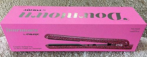 Eva NYC Healthy Heat Ceramic Styling Flat Iron in Pink Cheetah