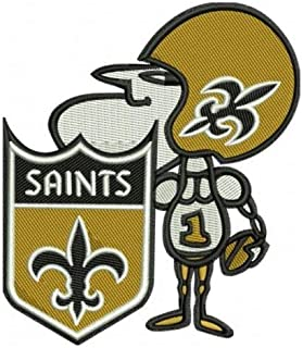 Football Saints SIR Saint Patch Embroidered Super Bowl Gumbo Soon!! NFL Brees