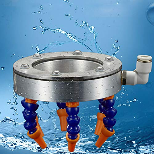 Best Deals! 110MM Engraving Machine Water Spray Ring Spindle Spray Coolant Lubrication Cooling Spray...