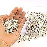 DAHI - Cuentas con letras de la A a la Z en forma de cubo para joyas y manualidades