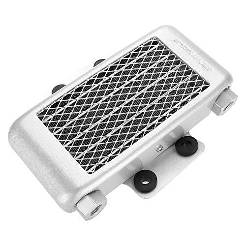 Enfriador de aceite Suuonee, radiador de enfriamiento del enfriador de aceite del motor de aluminio de 65 ml para 100CC-250CC Moto Dirt Bike ATV(Blanco)