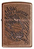Custom Personalized The Antique Copper Harley-Davidson Windproof Lighter Free Engraving #29664