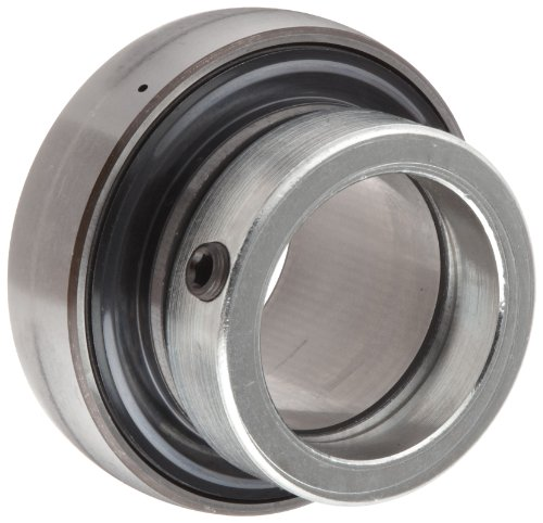 """SKF YEL 206-102-2F Ball Bearing Insert, Eccentric Collar, Contact Seals, Regreasable, Steel, 1-1/8"""" Bore, 62 mm OD, 18 mm Outer Ring Width"""