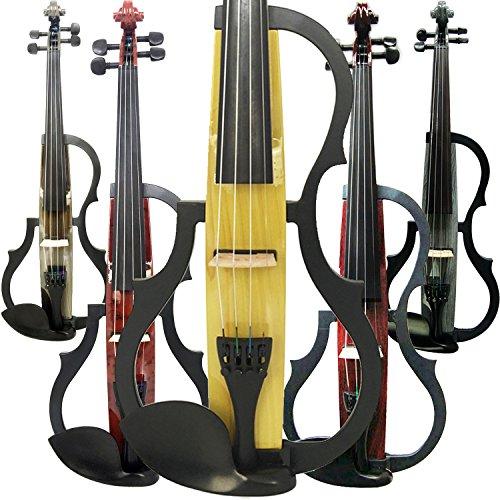 Aliyes hecho a mano Silencioso violín eléctrico 4/4tamaño completo profesional Kit de violín estudiante de violín para principiantes y madera maciza cadena, hombro resto colofonia,, SDDS-E605