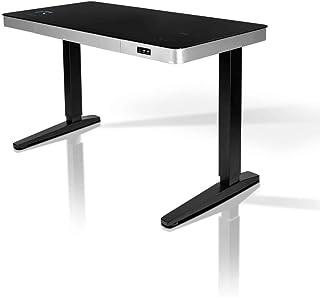 REKT RGo Touch Desk 120 Noir Bureau Électrique réglable en Hauteur 120x60x73-118 cm Bureau Assis-Debout - Chargement Induc...