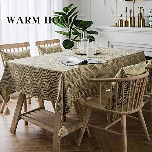 shiyueNB keuken decoreren linnen familiebijeenkomsten bruiloftsdecoratie 3 stijlen geborduurd waterdicht tafelkleed rechthoekige eettafel n geel 135x300cm