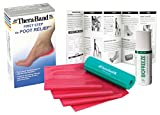 TheraBand Thera-Band First Step to Foot Relief, at-Home Treatment for Heel Pain, Complete Foot Roller, a Light Resistance Band, Biofreeze Roll-on Gel, and a Patient Instruction Booklet
