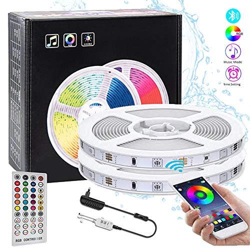 10M Tiras LED RGB 5050,COOLAPA 300 LEDs Tiras LED de Luces Kit con Control Remoto IR de 40 Teclas, Adaptador de Alimentación 12V 3A,Luces Decorativas Habitacion,Decoración de Casa,Jardín, Fiesta