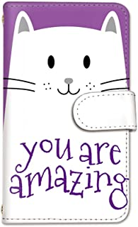 seventwo Xperia Z4 SO-03G SOV31 402SO スマホケース 手帳型 携帯ケース スマホカバー カードホルダー SONY ソニー エクスペリア ゼットフォー 【H.パープル】 白猫 ねこ 動物 animal_072