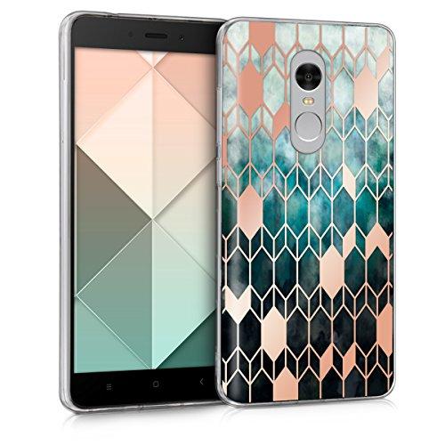 kwmobile Xiaomi Redmi Note 4 / Note 4X Hülle - Handyhülle für Xiaomi Redmi Note 4 / Note 4X - Handy Case in Glory Design Blau Rosegold