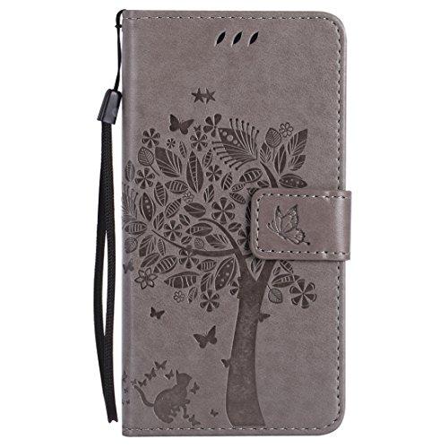 Nancen Compatible with Handyhülle HTC One M8 (5 Zoll) Flip Schutzhülle Zubehör Lederhülle mit Silikon Back Cover PU Leder Handytasche