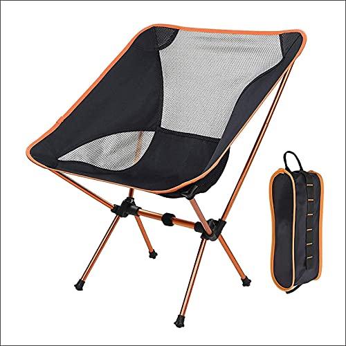 XQMY Silla de Camping portátil con Bolsa de Transporte, Adecuada para Viajes al Aire Libre, Capacidad máxima de 120 kg, Silla de jardín Plegable compacta Ultraligera con Bolsillo Lateral, 1 na
