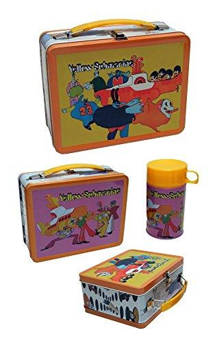 Animewild The Beatles Yellow Submarine Retro Style Metal Lunch Box