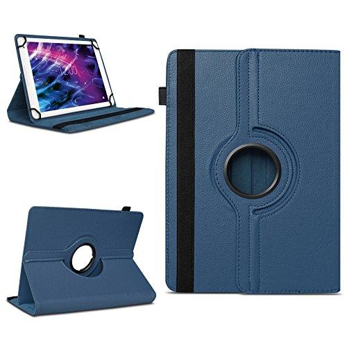 Tablet Schutzhülle Medion Lifetab E10604 P10603 E10412 P10606 P10327 X10313 P10602 X10605 X10607 X10311 P9702 X10302 P10400 P10506 P10505 Hülle Tasche 360° Drehbar Cover Hülle Universal , Farben:Blau