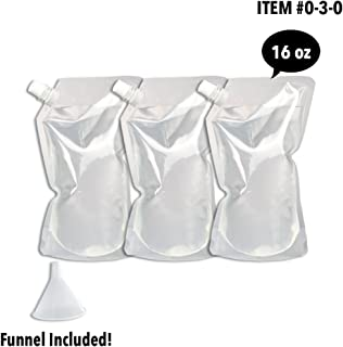 Cruise Flask Collapsible Reusable Foldable Eco-Friendly 16 Oz Water Bottle – BPA Free - (3 Pack)