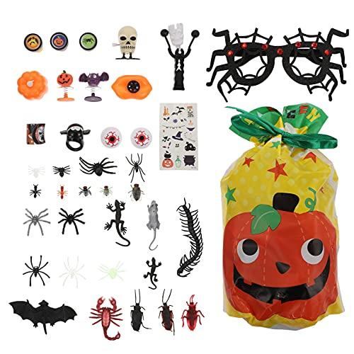 IMIKEYA DIY Juguetes de Broma de Halloween Araña Gafas Insertar Juguetes de Truco Bruja Pegatinas Niños Slap Pulseras con Bolsa de Cordón para La Decoración del Partido