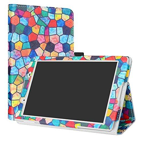 Lenovo Tab4 8 hülle,LiuShan Folding PU Leder Tasche Hülle Case mit Ständer für Lenovo Tab 4 8 Android Tablet,Stained Glass