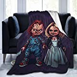 YSFyinee Bride-of-Chucky Ultra Soft Flannel Blanket Printing All Season Fuzzy Fluffy Cozy Blanket for Couch Bed Sofa 50'X40'