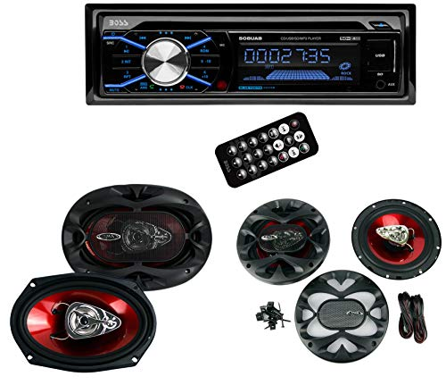 Boss 508UAB In Dash CD Car Player USB MP3 Receiver Bluetooth+6.5 6x9 Speakers