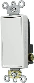 Leviton 5621-2W 20-Amp 120/277-Volt Decora Plus Rocker Single-Pole AC Quiet Switch, White