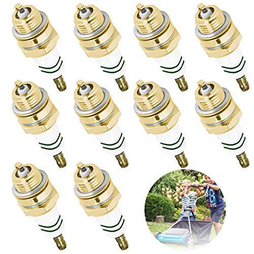 10 Stk Rasenmäher Zündkerze Kraftstoffeffizienz verbessern, Kraftstoffemissionen senken, für verschiedene Motorsense Rasenmäher, Kantenschneider, Gebläse, Freischneider, Heckenschere, Kettensäge Usw