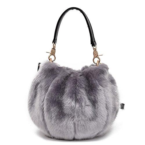 SONGXZ Fashion Damen Handtasche Pelz Kürbis Handtasche Business Daily Bankett Einzel Schulter Diagonale Handtasche