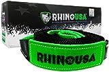 Rhino USA Tree Saver Winch Strap 3 inch x 8 Foot - Lab Tested 31,518lb Break Strength - Triple Reinforced Loop...