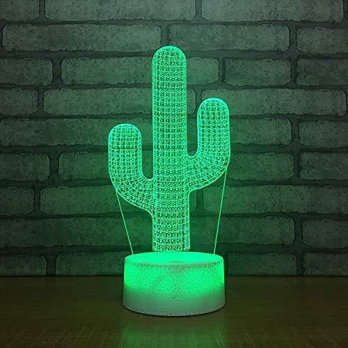 Lámpara de Mesa Cactus Sensor táctil Novedad iluminación niños niños bebé Regalo Gadget Cactus Noche luz decoración Color