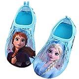 [Joah Shop] アナと雪の女王2 Frozen Ⅱ エルサ アナ キッズ ウォーター アクア シューズ *小さめ* (16.0 cm, 水色) [並行輸入品]