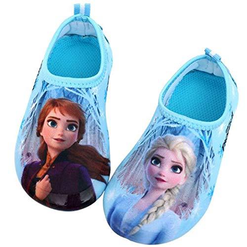 Joah Store Frozen2 Elsa Anna Girls Water Shoes Swim Aqua Shoes Runs Small (Parallel Import/Generic Product) (9.5 M US Toddler)