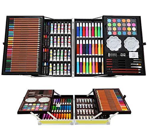 200pcs Conjunto de Dibujo de Arte, Creatividad Herramientas de Pintura Incluye Crayones de Cera, Acuarelas, Lápices de Colores, Pasteles, Regalos para Niños, Estudiantes, Principiantes y Artistas#3