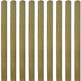 Láminas impregnadas de valla, adaptadas a cualquier jardín o espacio exterior, 10 madera Fsc 120 cm, paneles de valla