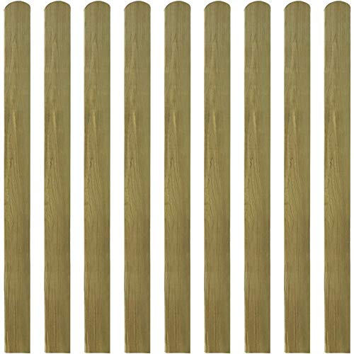 Lahomie - Valla de jardín de madera, listones impermeables, 10 unidades Madera 120 cm